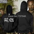 The Walking Dead Don'T Open Dead Inside New Adult Zip Up Hoodie Sweatshirt Black