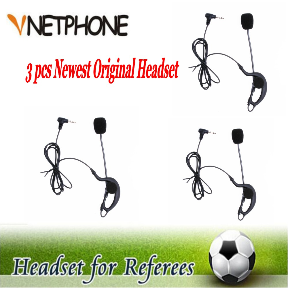 3 pcs 2017 Latest Professional V6 V4 Full Duplex Two-way Football Referee Coach Judger Arbitration Earhook Earpiece Earphone