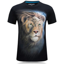 Newest 2019 Summer 3D lion Printed T Shirt Cotton Casual Short Sleeve Tshirt Male Hip Hop Style O-Neck Tees Tops(China)