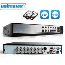Hibrid 5 In 1 16CH AHD DVR Kaydedici 1080 P DVR 16 Kanal 2 SATA HDD 1920*1080 CCTV CVI, TVI DVR 16CH Hibrid DVR Kaydedici Sistemi