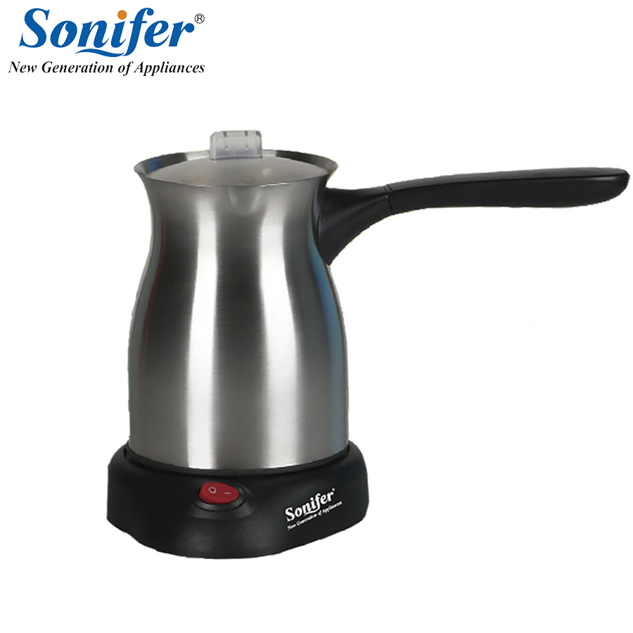 Original Stainless Steel Coffee Machine Turkey Coffee Maker Electrical Coffee Pot Coffee Kettle Sonifer stainless steel vacuum coffee insulation pot