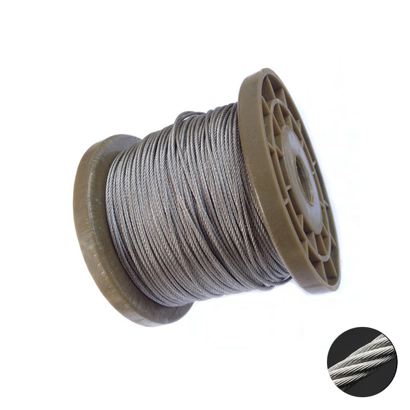 5 Meters 2mm 3mm 4mm 5mm 6mm 8mm Diameter Steel Bare Wire Rope Lifting Cable 304 Stainless Steel Clothesline