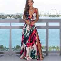 El 2019 de las mujeres Vestidos de Boho vestido de verano vestidos de verano vestido Vestidos de fiesta sin mangas Top con tiras vestidos de verano de mujer