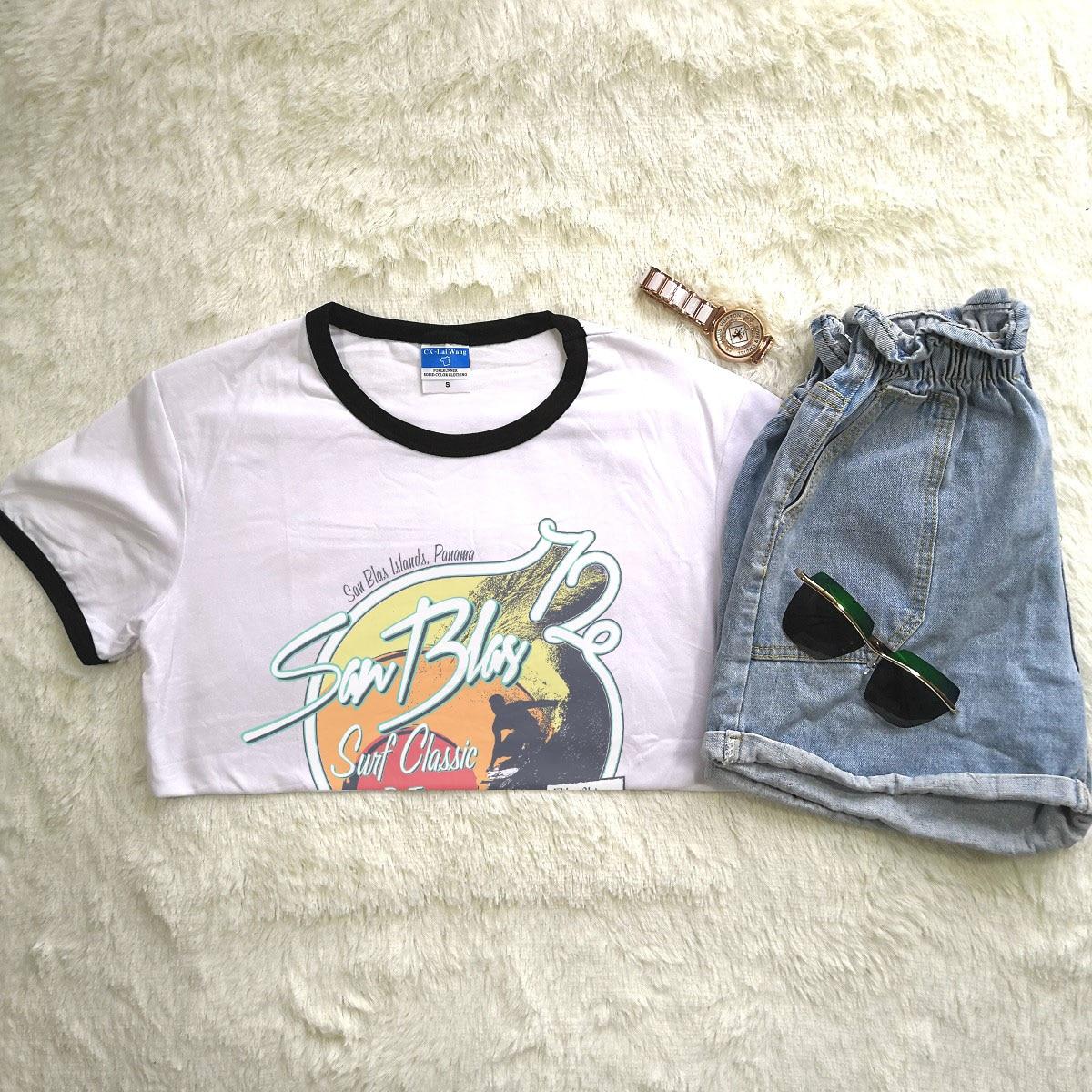 Hillbilly Women Summer O-Neck Tshirt Funny Vintage Tops Novelty Tee Panama Short Sleeved Printed T shirt Women Brand Harajuku