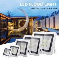 Foco LED iluminación al aire libre proyector de luz para exteriores 20W 30W 50W 100W impermeable IP66 AC220V arandela de pared construcción lámpara