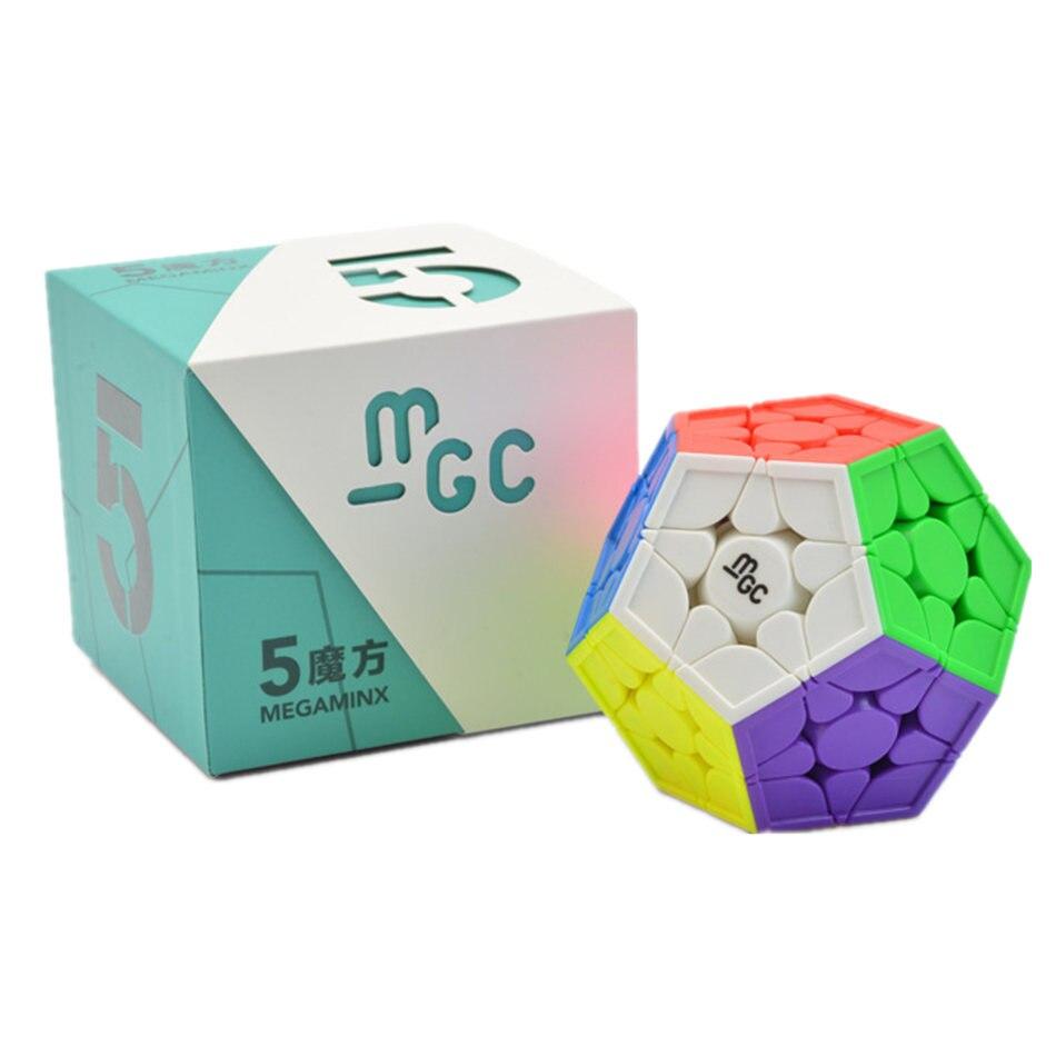Megaminx Cubo YJ MGC 3x3 3x3 3 Camadas Megaminx Stickerless Velocidade Cube Puzzle Cubo Mágico Magnético brinquedos Para As Crianças Crianças Brinquedo de Presente