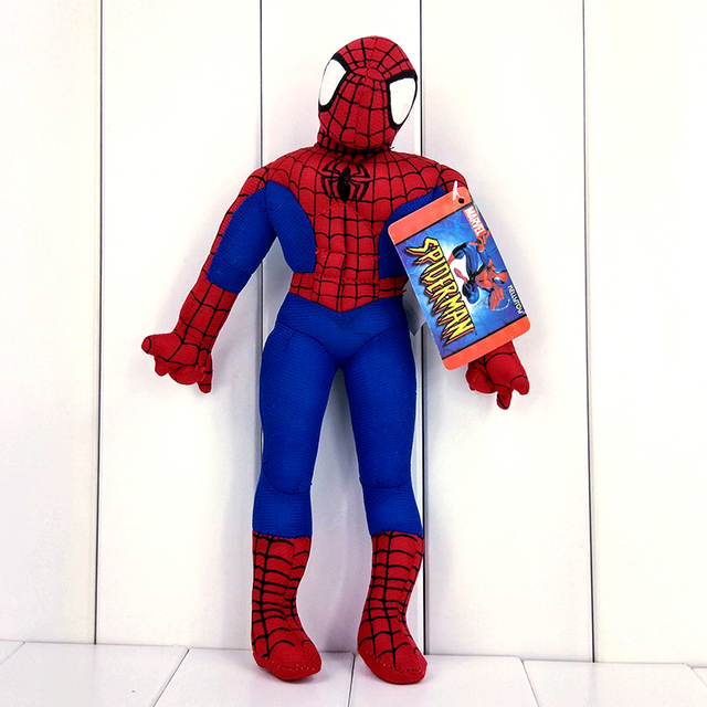 30 cm Superhero Spiderman Peter Parker Spider Man Homem-Aranha de Brinquedo de Pelúcia Boneca de Pelúcia Com Tag