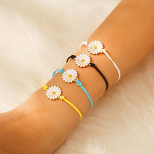 Ubuhle Fashion Couple Bracelet Gold Flower Colorful Lucky Braided Jewelry Adjustable Rop Chain for Women Men