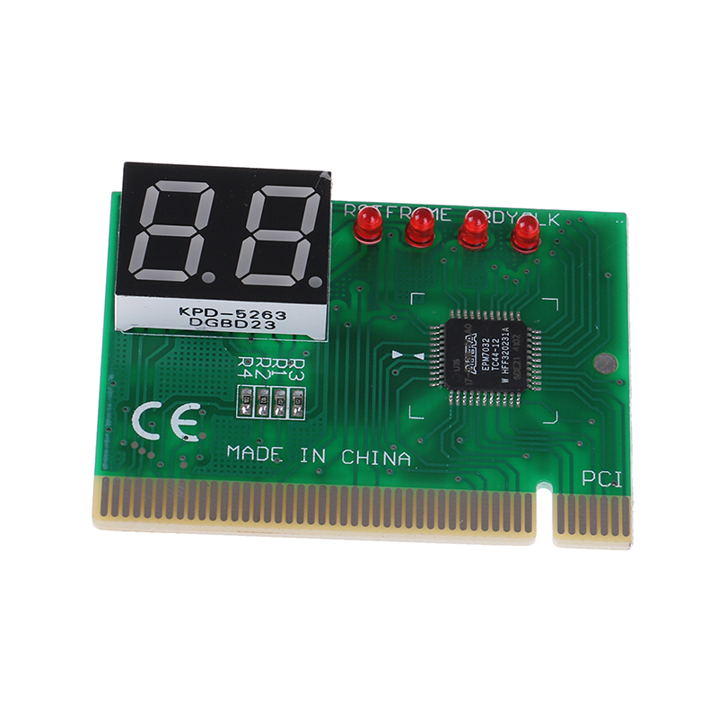 1 Pc 2 Digit Pci Post Karte Lcd Display Pc Analyzer Diagnose Karte Motherboard Tester Computer Analyse Networking-tools Mild And Mellow