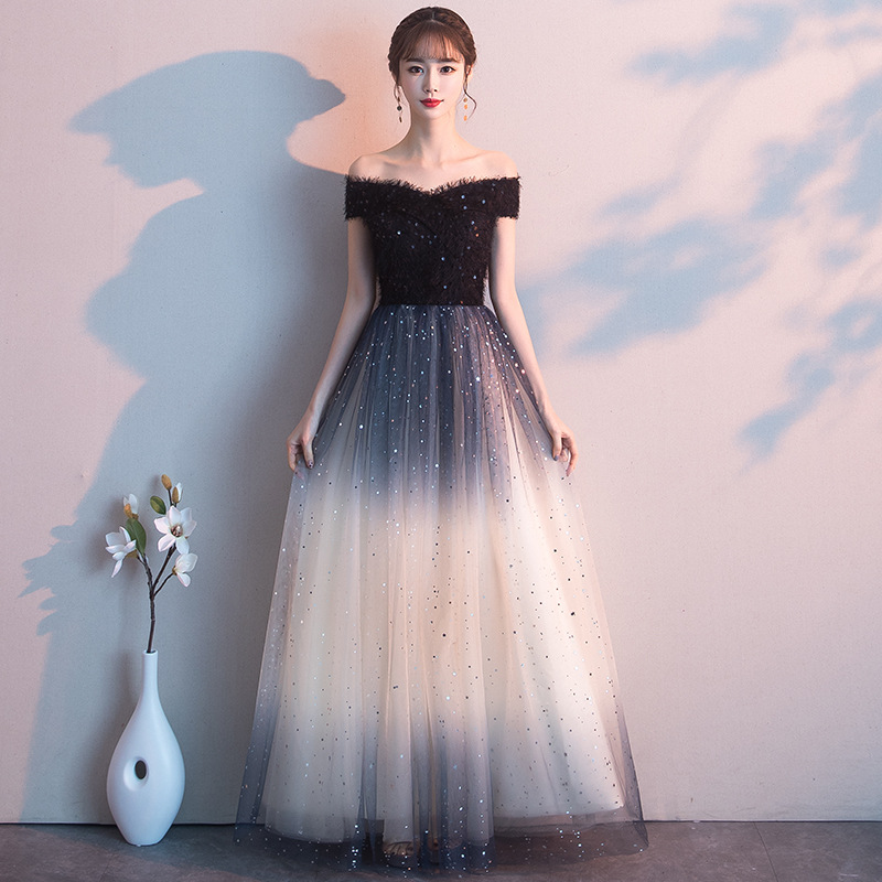 Party Prom Famale Lace Gown Birtday Girl Party Dress Noble Elegant Temperament Chic Korean Evening Dress 2018 High Quality