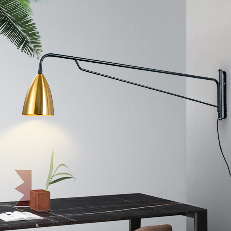 Nordic Modern Simple Industrial Style Post-modern Creative Long-pole Wall Lamp Studio Bedside Restaurant Living Room Wall Lamp