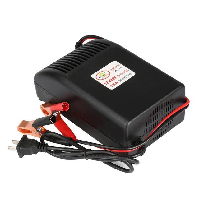 Nueva llegada cargador de batería de coche inteligente rápido de plomo-ácido automático 15 Amp 12/24 V carga de batería apr14