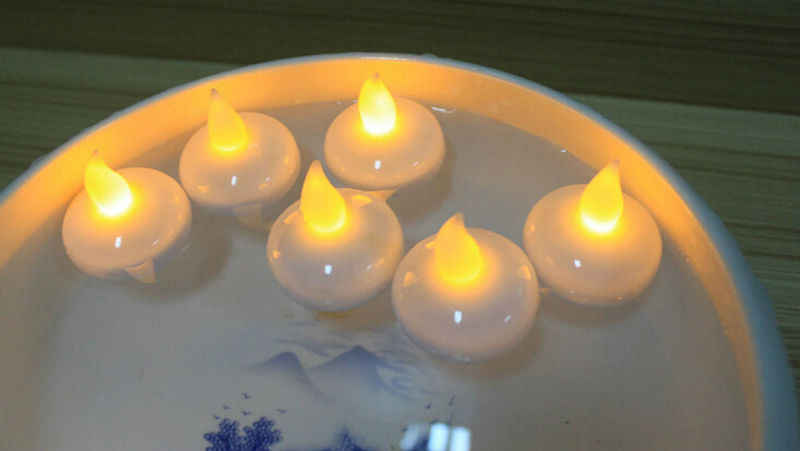 36pcs Waterproof Flameless Floating LED tealight battery operated water activated sensor candle wedding Christmas party-4 colors