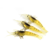 Shrimp bait 10CM Bionic shrimp with fishy smell Fake Soft  Fishing gear
