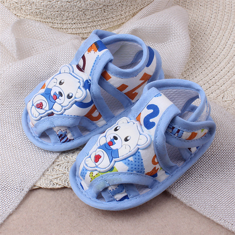 SZYADEOU 2019 Baby Girl Boy Soft Sole Cartoon Anti-slip Casual Shoes Toddler Sandals Детске сандали Wholesale L5
