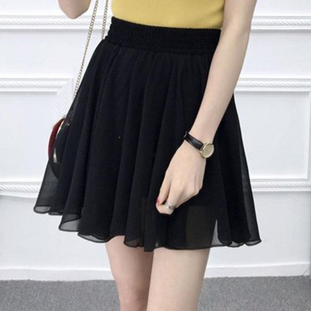 Skirt Skirts Womens Jupe Femme Faldas Mujer Moda 2019 Rokken Fashion Party Cocktail Summer Women Solid Color High Waist юбка Z4