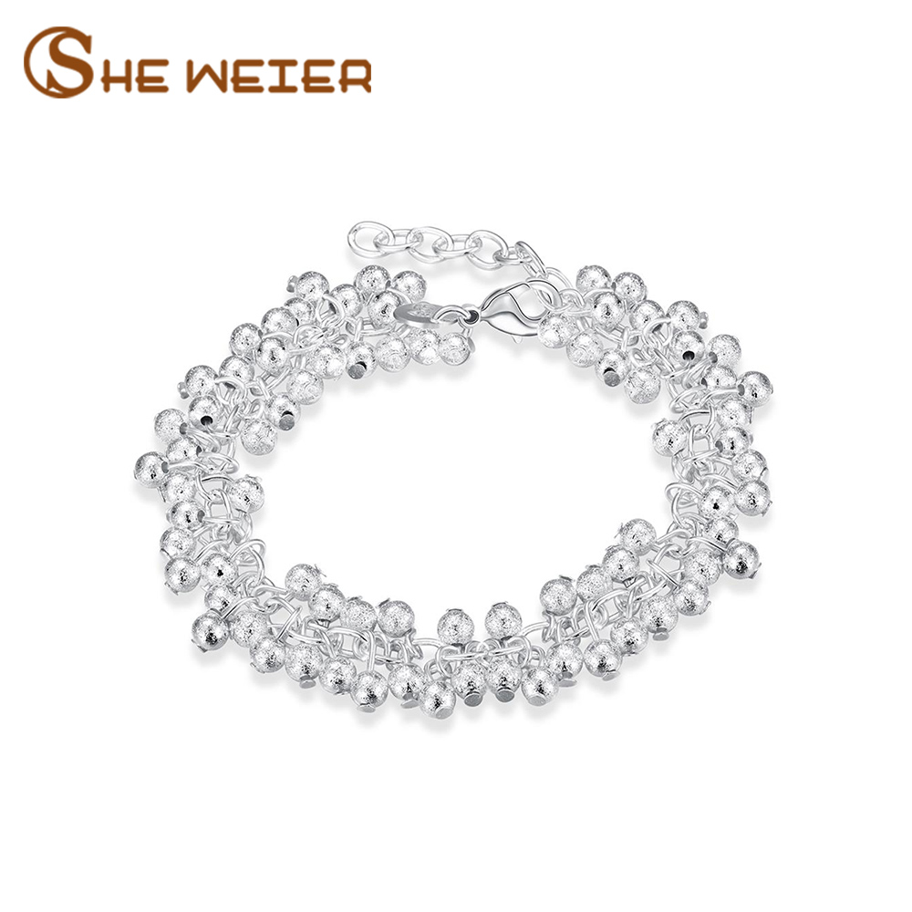 SHE WEIER Charm Bracelets for Women Braslet Bracelet and Bangles Acessories Jewelry Bead Chain Gifts for Girls Femme Pulsera