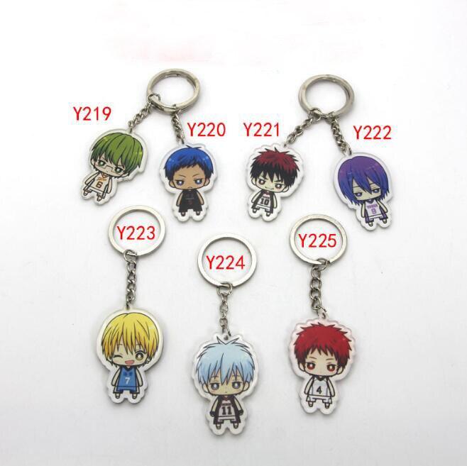 1Pcs/set Cute Kuroko no Basket acrylic Keychain Pendant Car Key Accessories Cute Japanese Cartoon Kuroko's Basketball