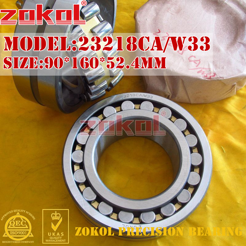 ZOKOL bearing 23218CA W33 Spherical Roller bearing 3053218HK self-aligning roller bearing 90*160*52.4mm mochu 22213 22213ca 22213ca w33 65x120x31 53513 53513hk spherical roller bearings self aligning cylindrical bore