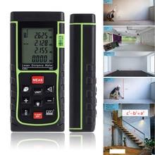 Buy online Portable 40M/131ft/1575in Digital Laser Distance Meter Range Finder Measure Diastime Measure Area/volume ruler