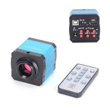 14MP HDMI 1080 P HD usb dijital Endüstriyel Video Muayene Mikroskop Kamera Seti TF Kart Video Kaydedici cep telefonu için PCBrepair