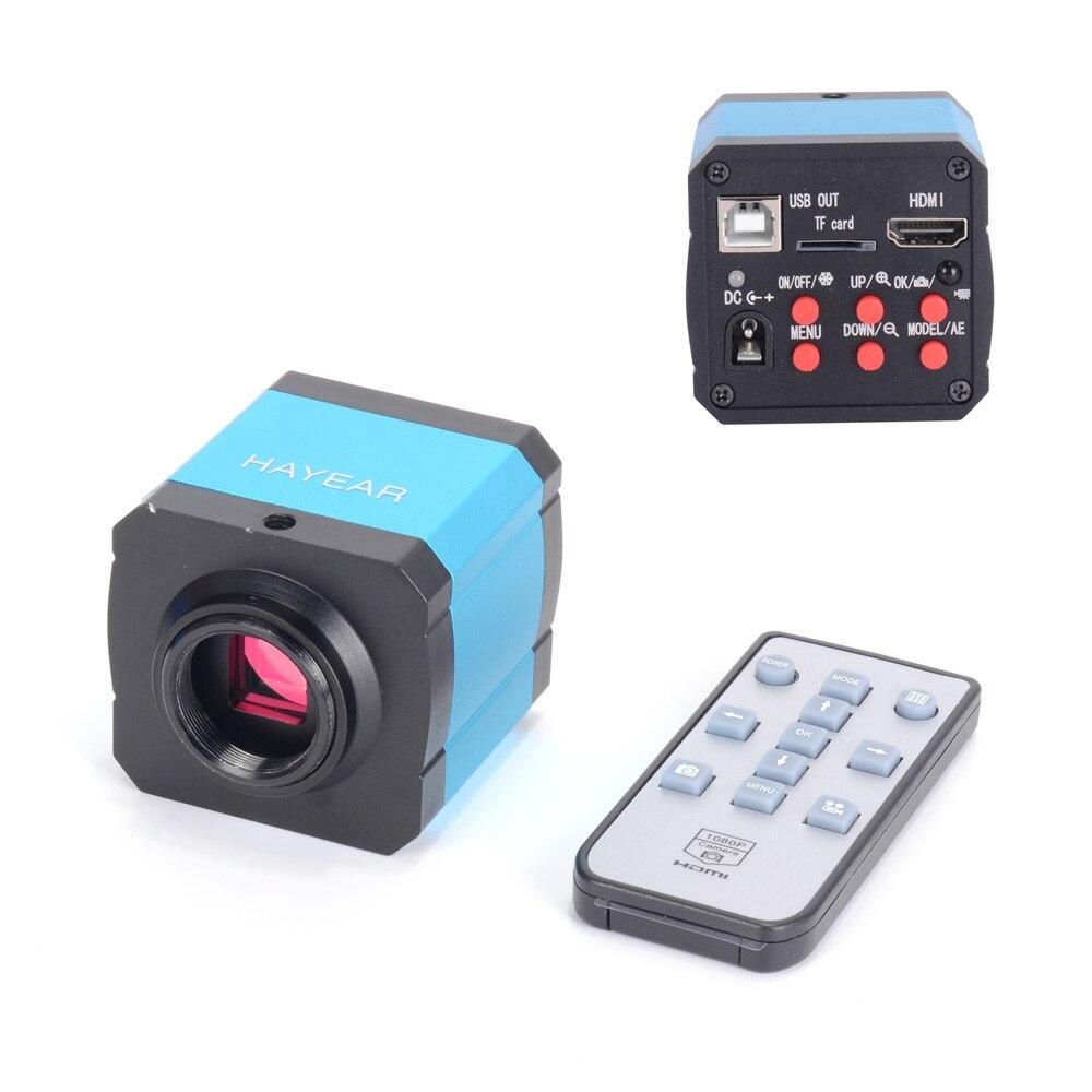 Jeu de caméras de Microscope vidéo, industrie numérique HDMI 1080P HD usb pour Microscope d'inspection vidéo enregistreur vidéo pour téléphone portable paire de caméras