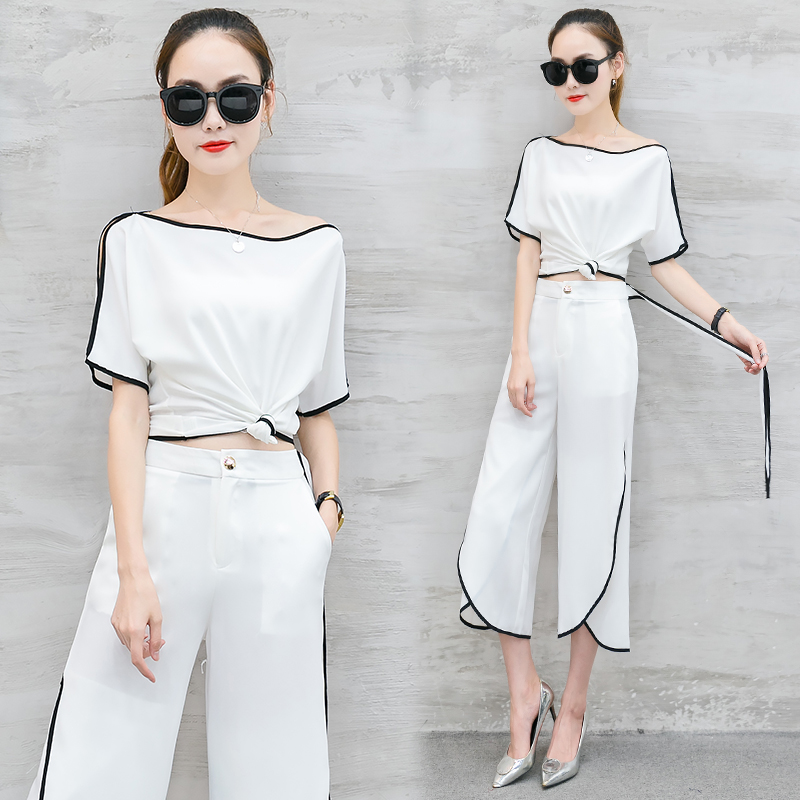 YICIYA Neon Festival Set 2 Piece Outfits for Women Fashion Matching Co-ord Set 2019 Summer Top and Pant Suits White Clothing