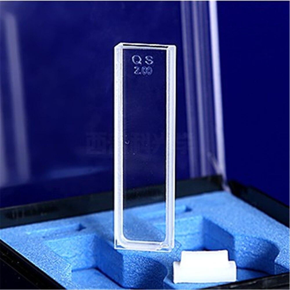 2Pcs 2mm Path Length JGS1 Quartz Cuvette Cell With Lid For Spectrophotometers