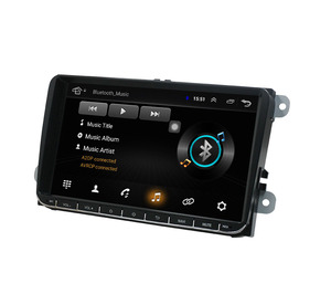 Android 8.1 car stereo 9inch gps nav for Volkswagen VW Jetta Golf GTI Passat Polo Caddy 16G Nand Flash Quad Core 1024*600 wifi(China)