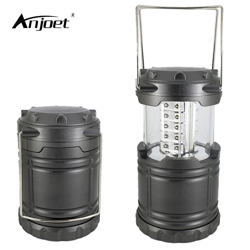 ANJOET 30 LED Portable Light Flashlights Hiking portable lamp Emergency lighting outdoor camping Can be closed contraction