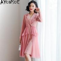 Spring Summer Dress Women Clothes 2019 Korean Vintage Office Dress Elegant Career Suit OL Womens Dresses Pink Party Dress ZT2063