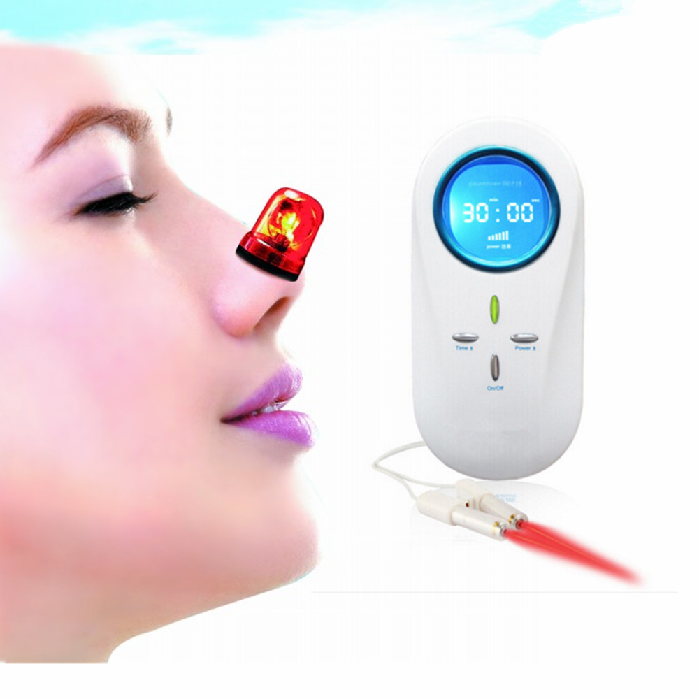 650nm physical blood cleaner LLLT Semiconductor nasal Low level laser therapy rhinitis treatment no pain home use free shipping cozing cold laser therapy watch rhinitis ear deafness pharyngitis pain relief high blood pressure physical therapy cardiovascula