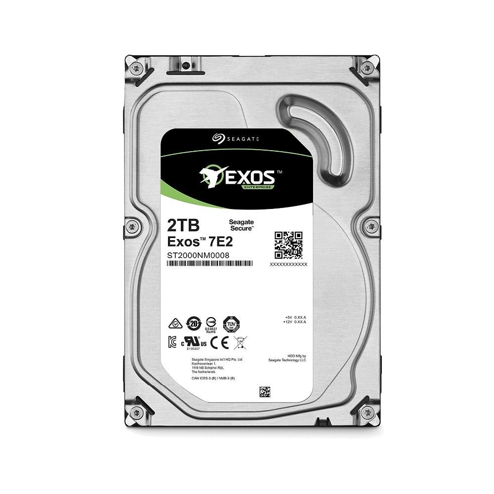Seagate Exos 7E2 ST2000NM0008 2TB SATA 6Gb/s 128MB Cache 3.5 Inch Enterprise Hard Drive цена