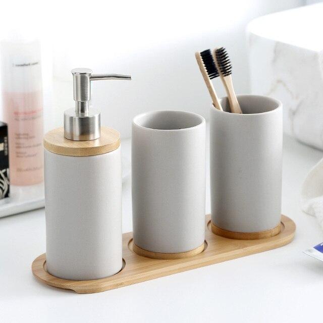 Ceramica Accessori Per il Bagno Set Matte Dispenser di Sapone/Spazzolino Da Dent