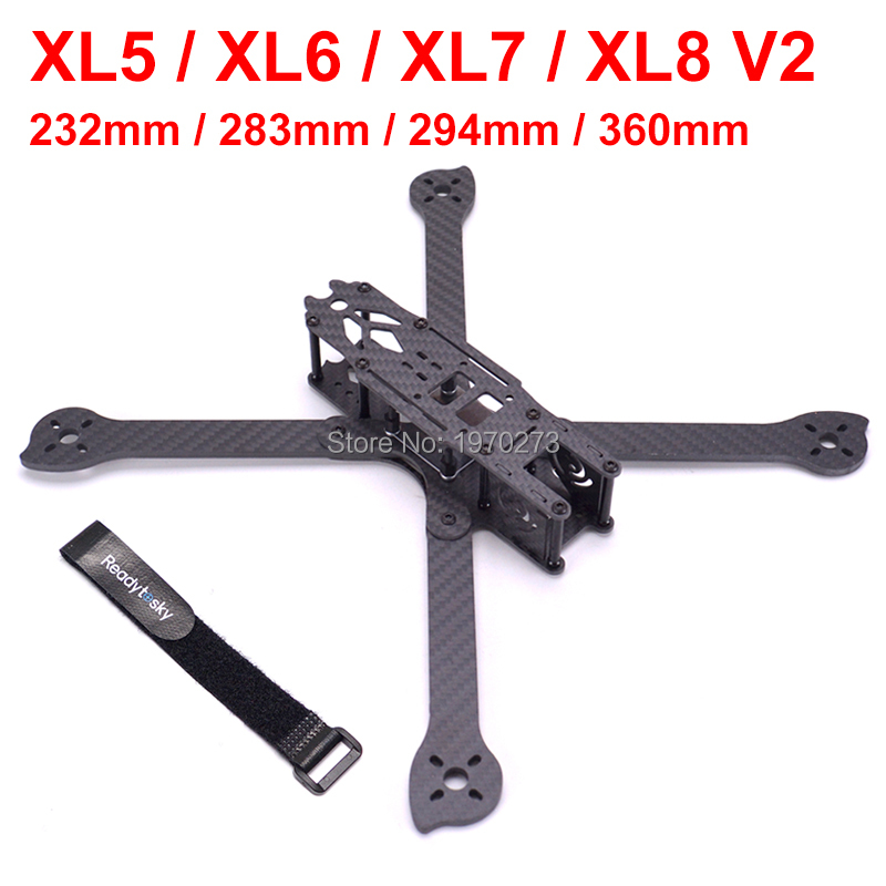 3K Full Carbon Fiber XL5 V2 232mm XL6 283mm XL7 294mm XL8 360mm True X 5 6 7 8 Inch FPV Freestyle Frame W/ 4mm Arm Racing Kit