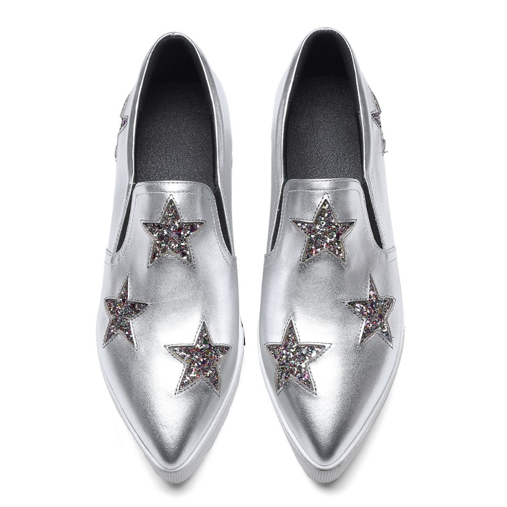 official photos 3c338 e68e1 Krazing-Pot-new-cow-leather-solid-bling-stars-superstar-pointed-toe-sneaker-streetwear-causal- shoes-women.jpg