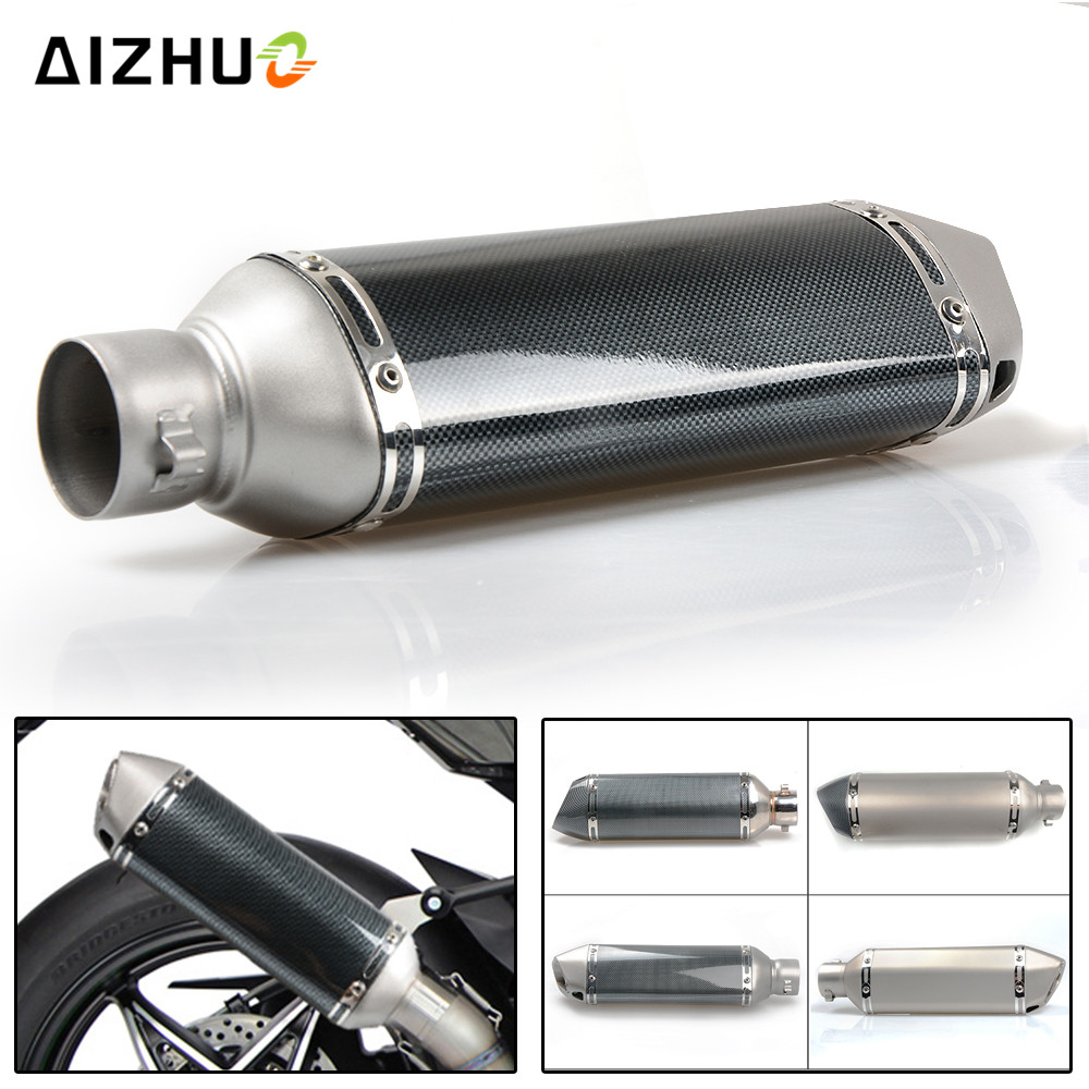все цены на 36-51MM Motorcycle Exhaust Muffle Pipe Exhaust Pipe FOR Ducati monster 620 monster 696 benelli trk502 tnt 300 triumph tiger 800 онлайн