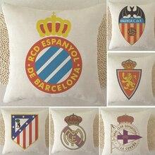 España Football Club cubierta de la almohadilla, logotipo del equipo del RCD Espanyol Valencia CF Real Zaragoza throw almohada cubierta Al Por Mayor