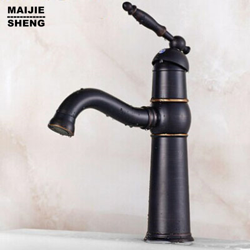 bagno rubinetti nero rubinetti lavandino ottone antico miscelatori lavabo acqua di rubinetto bagno olio di bronzo
