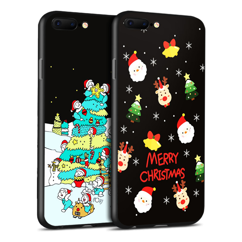 iiozo christmas soft silicone phone case for iphone x 6 7 8 plus lovely santa claus