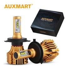 Auxmart фар H7 H4 H11 светодиодный лампы 9005 HB3 9006 HB4 H8 светодиодный светильник 70 Вт 8000lm 6500 К авто светодиодный налобный фонарь комплект автомобиль свет светодиодный H 7 11 4