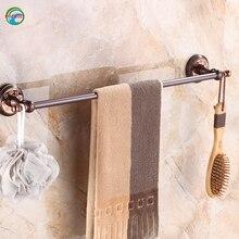 Wholesale or retail way Brushed brass Single Bathroom Bath Towel Bar Brass Towel Holder Bathroom Accessories