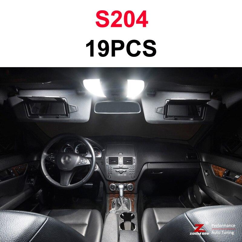 Идеальный белый светодиодный светильник Canbus для Mercedes Benz C class W202 W203 W204 S202 S203 S204 C203 C203 C204 C204(93-14 - Испускаемый цвет: S204 Estate - 19PCS