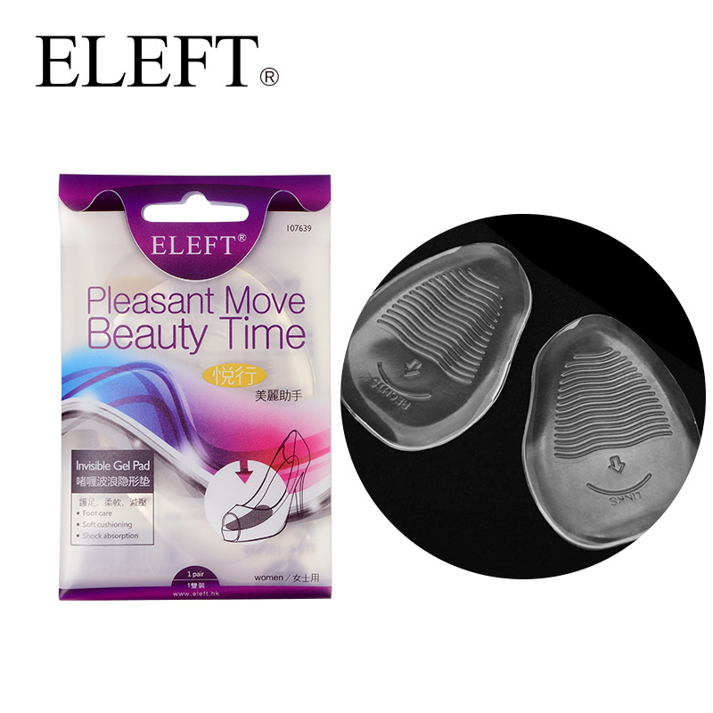 ELEFT Invisible gel silicone forefoot pad insoles anti-slip orthopedic orthotic for high heels woman pump shoes flat sandals super soft vibration silicone gel insoles invisible high heels sottopiede pad non slip half a yard of the ball of your foot ins