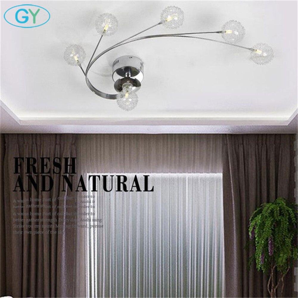 Moderne LED Aluminium draht glas luminaria deckenleuchten lüster led ...
