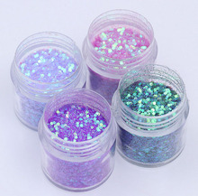 4pcs/set (4colors )10ml Shiny Purple Nail Glitter Powder Sequins For Art Decoration Gradient set of ultra-fine