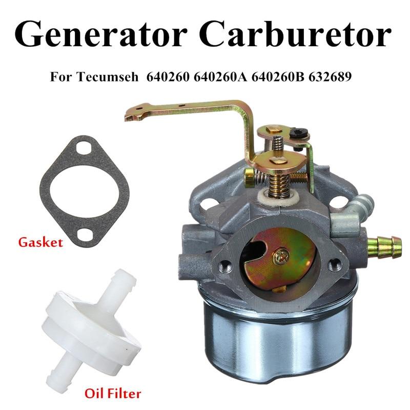 Generator Carburetor Colemans Maxa 5000 ER Plus 10hp Tecumseh Powerbase Powermate Durable Silver Hole Diameter 7mm