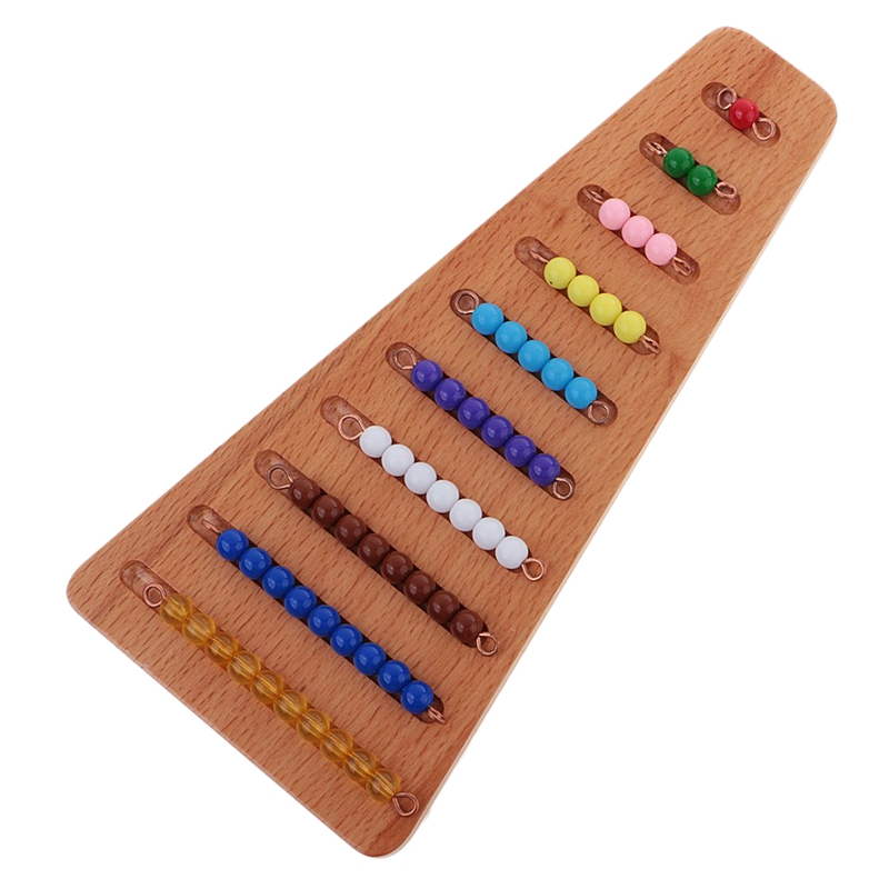 Baby Toy Colored Colored Beads Stairs With Tray Mathematics Early Childhood Education Education Preschool Learning Toys
