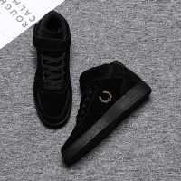 LettBao 2018 New Autumn Fashion Men's Shoes Mens High Top Sneakers Breathable Men Vulcanized Shoes Black Buckle Shoes Men