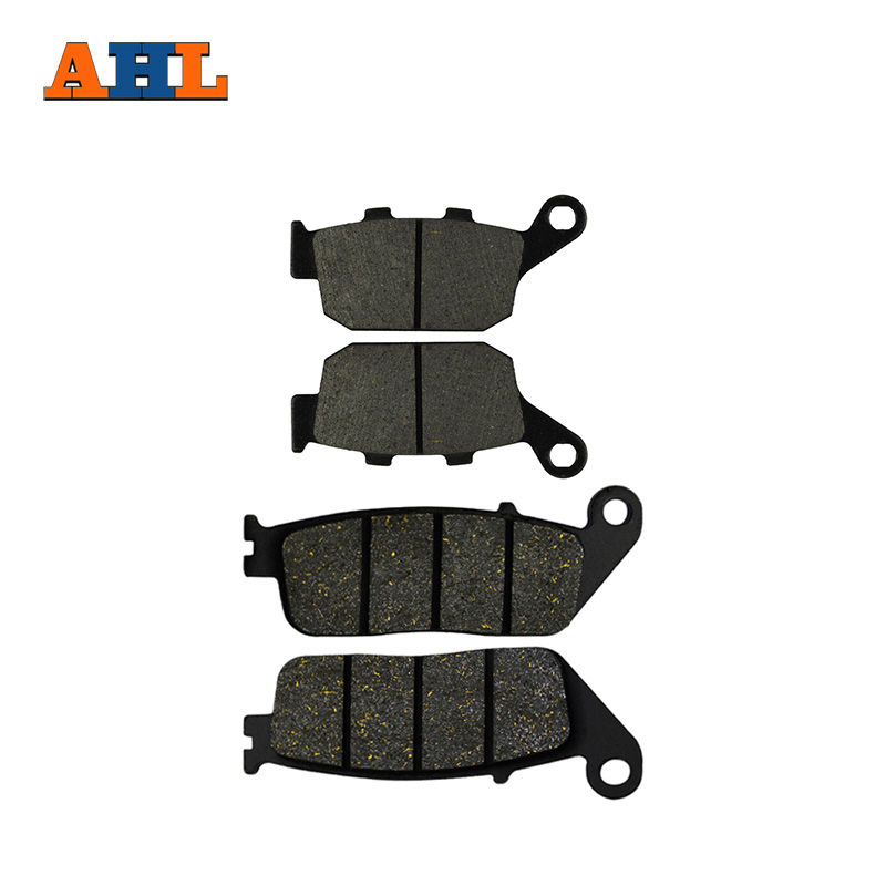 AHL 2 Pairs Motorcycle Brake Pads for HONDA NTV 650 NTV650 1988-1997 Revere Black Brake Disc Pad economic bicycle brake pads black 4 pcs